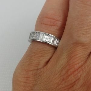 Sterling silver 4 ring cubic zirconia